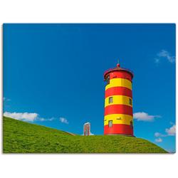 Artland Wandbild Pilsumer Leuchtturm, Gebäude (1 Stück) 120 cm x 90 cm