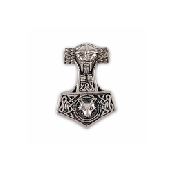 KUNST UND MAGIE Amulett Thorshammer Mjölnir Mjollnir Anhänger Amulett Silber 925