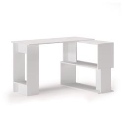Vicco Computertisch Eckschreibtisch Schreibtisch Gates L-Form Bürotisch PC-Tisch weiß