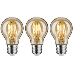 Paulmann 3er Pack 4,7 W AGL E27 gold LED-Leuchtmittel, E27, 3 Stück, Warmweiß