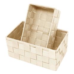 Lashuma Aufbewahrungskorb (Set, 2 Stück), 1x Badkorb 19x10x7 cm, 1x Aufbewahrungsbox 20x13x10 cm natur 19 cm x 7 cm x 10.00 cm