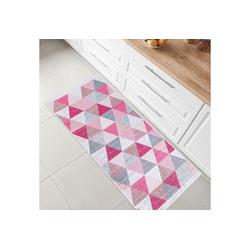 Teppich Kelim, Fashion Home, Läufer, Flur Teppich, Teppich Läufer, Boho Kelim Teppich rosa Läufer - 60 cm x 90 cm