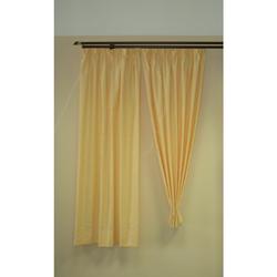 Musterfenster Vorhang Gardine 4 Schals Punkte gelb, fertig genäht