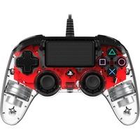 PS4 Compact Controller Illuminated transparent / rot