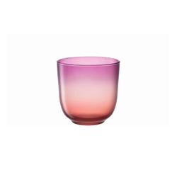 Glas Koch Windlicht Tulipano in pink/orange, 16 cm