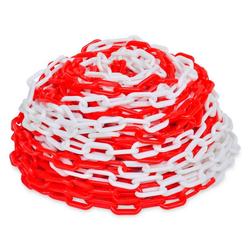 vidaXL Kunststoffspüle vidaXL Absperrkette 30 m Kunststoff Rot und Weiß