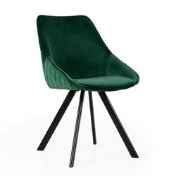 Esstisch Stühle in Grün Velours Metallgestell (2er Set)