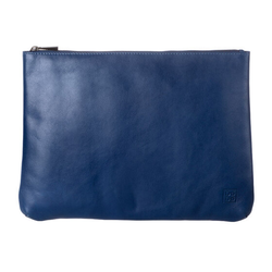DuDu Clutch Tasche Leder 36 cm blau