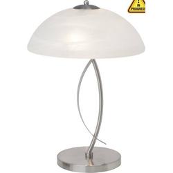 Brilliant Boston 12848/13 Tischlampe Halogen E14 80W Eisen, Weiß