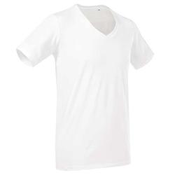 Deep V-Neck T-Shirt Dean | Stedman weiß L
