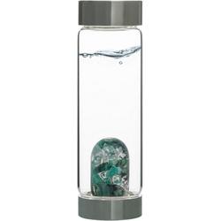 VitaJuwel Wasserkaraffe Edelsteinflasche ViA Vitality, (Smaragd - Bergkristall)