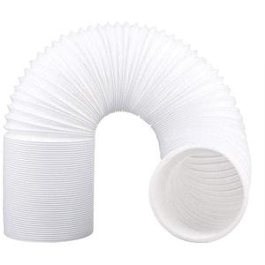 QYHSS 2M Länge Tragbare Klimaanlage Schlauch, Abluftschlauch 150mm Verlängerung Flexibel Durchmesser, für Mobile Klimageräte, counterclockwise Installation Direction (Weiß)