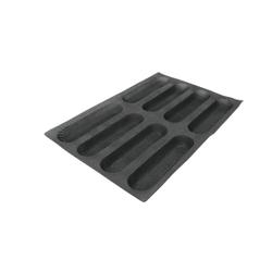 SCHNEIDER AIR Mini Baguette Backform, Gebäckform für Baguette, wie auch Feingebäck, Durchmesser: 259 x 64 mm