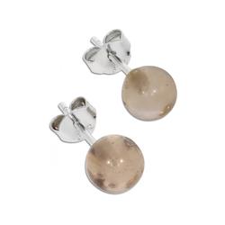 Adelia´s Paar Ohrhänger Rauchquarz Ohrringe 925 Silber grau, Rauchquarz grau