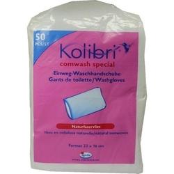 KOLIBRI comwash special Waschhandsch.16x24cm weiß 50 St