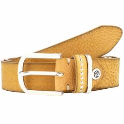 b.belt Fashion Basics Cleo Gürtel Leder senfgelb 100 cm