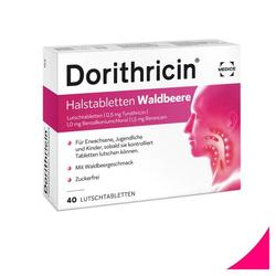 DORITHRICIN Halstabletten Waldbeere 40 St