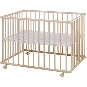 Schardt Laufgitter BASIC 75 x 100 cm, natur lackiert, Folie Sternchen grau