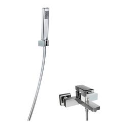 HSK Shower Set 3.09 Eckig, Aufputz-Badewannen-Einhebelmischer, Design-Handbrause