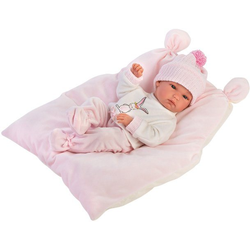 Babypuppe Llorens, Bimba rosa, 35 cm, Made in Europe