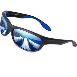 Elegear Fahrradbrille, (1-St., 1x Brillenetui, 1x Glasreinigungstuch, 1x Gebrauchsanweisung, 1x Elegear Sonnenbrille), Elegear Sportbrille Verspiegelte Fahrradbrille, Professionelle POLARISIERT Sportbrille für Herren und Damen, Radbrille mit UV400 Schutz und TR90 Rahmen, Sportsonnenbrille Sonnenbrille zum Radfahren, Laufen