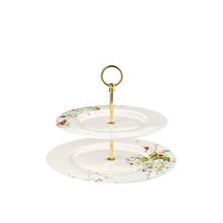 Rosenthal Etagere Brillance Fleurs Sauvages Etagere 2-tlg mit Fahnentellern, Porzellan, (2-tlg)