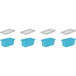 keeeper Aufbewahrungsbox emil (Set, 4 Stück) blau