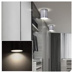 etc-shop LED Einbaustrahler, Aufbau Leuchte Wohnraum Flur Alu Strahler EEK A+ im Set inklusive LED Leuchtmittel