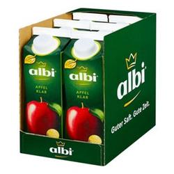 albi Apfelsaft klar 1 Liter, 6er Pack