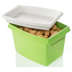 Ruco Aufbewahrungsbox, (Set, 2 tlg.), für Kartoffeln, mit Deckel grün Kleideraufbewahrung Aufbewahrung Ordnung Wohnaccessoires Aufbewahrungsbox