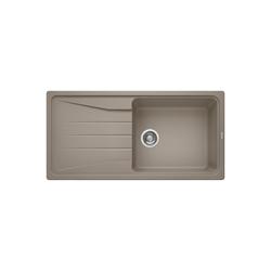 Single Bowl Beige Composite Kitchen Sink with Reversible Drainer - Blanco Sona Xl 6 S Silgranit Puradur Ii