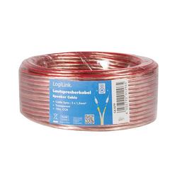 LogiLink Lautsprecherkabel, 2x 1,5 mm², 10m
