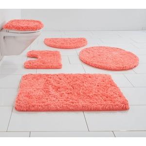 Badematte Micro exclusiv Guido Maria Kretschmer Home&Living, Höhe 55 mm, strapazierfähig, democratichome Edition rot rund - Ø 80 cm x 55 mm