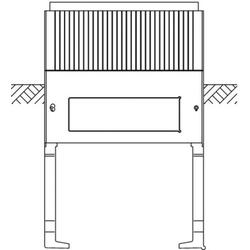 Hager Eingrabsockel ZAX005