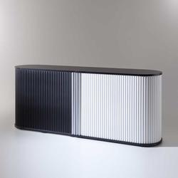 Rolladenschrank in Schwarz und Weiß Büro (2-teilig)