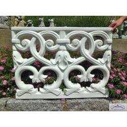 RO-8033 Form Zaunelement 77x103cm Kunststoffform für Betonzaun Element oder Element aus Beton (Material: Weißbeton)
