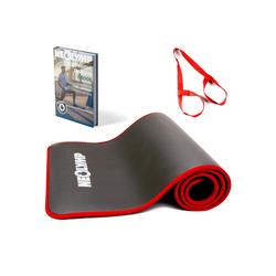 NEOLYMP Fitnessmatte Premium, Fitnessmatte Sportmatte Gymnastikmatte mit Tragegurt Workout Fitness Sportmatte 61 cm