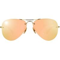 Ray Ban Aviator RB3449 gold / rosegold mirror