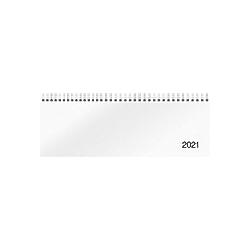 Querterminbuch Modell Sequenz, 2021, Karton-Einband Trucard weiß