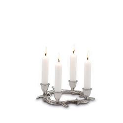 Kerzenständer Geweih rund für 4 Stabkerzen