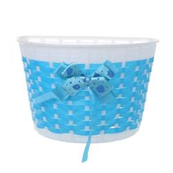 Gotui Fahrradkorb Kinder Fahrradkorb, Schultaschenkorb,abnehmbar,20*13*11cm blau