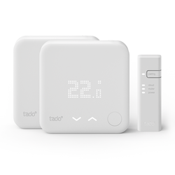 tado° Smart Thermostat Starter Kit V3 Wandthermostat & Bridge + Wandthermostat