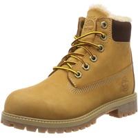 Timberland Unisex-Kinder 6 In Premium Waterproof Shearling Lined Klassische Stiefel, Gelb (Wheat Nubuck), 37.5 EU
