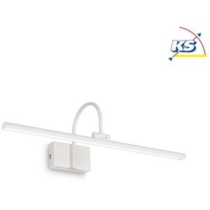 Ideal Lux LED Wand-/Spiegelleuchte BONJOUR, IP20, Breite 60cm, 8W 3000K 650lm, schwenkbar, mit Schalter, Weiß EEK: A++ - D IDEA-199894