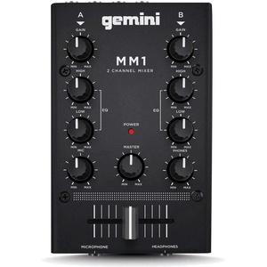 GEMINI MM1 2-Kanal Analog Mini-DJ-Mischpult