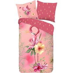Kinderbettwäsche Queen, good morning, mit Flamingo rosa