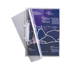 25 DURABLE Präsentationshefter Kunststoff transparent DIN A4
