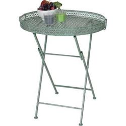 Klapptisch MCW-C39, Gartentisch, klappbar Metall antik-grün