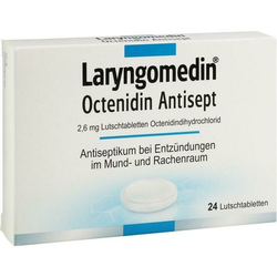 LARYNGOMEDIN Octenidin Antisept 2,6 mg Lutschtabl. 24 St