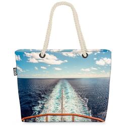 VOID Strandtasche (1-tlg), Urlaub Kreuzfahrt Meer Urlaub Kreuzfahrt Meer Kreuzfahrtschiff Reisen bunt